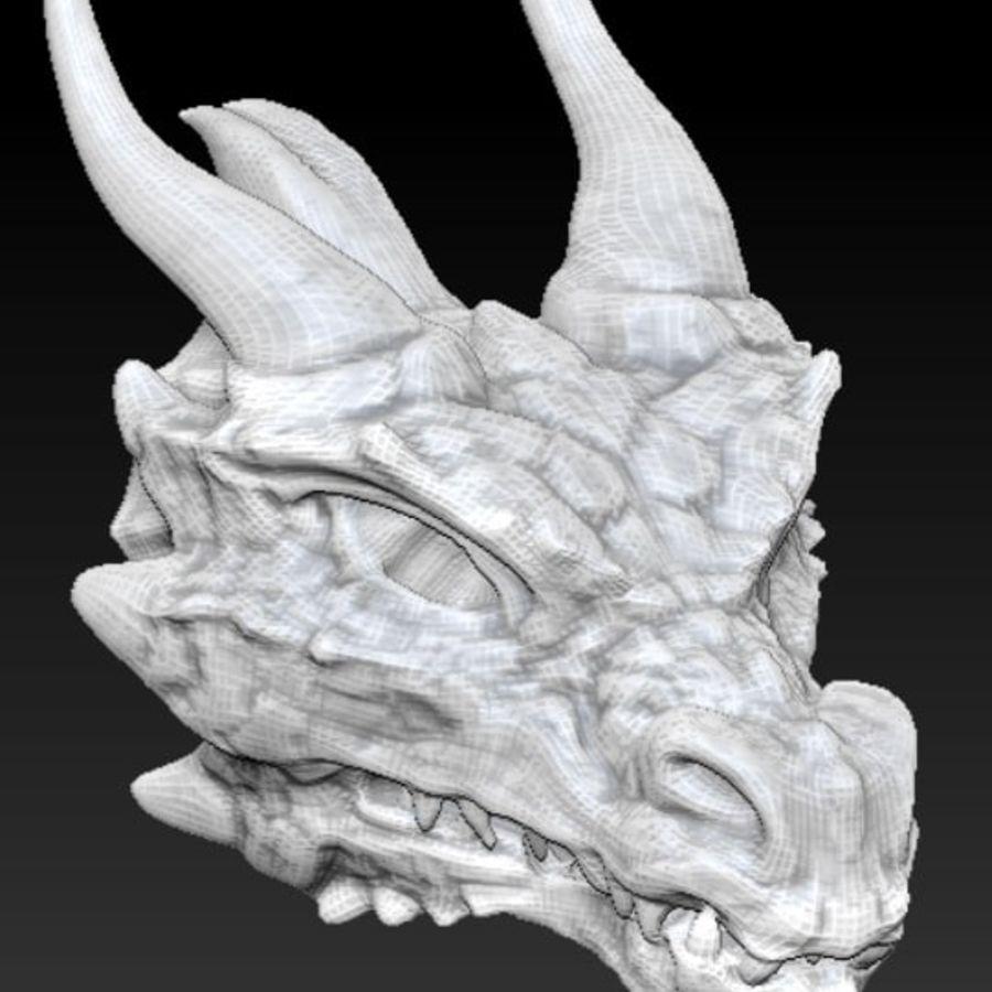 Głowa smoka royalty-free 3d model - Preview no. 3