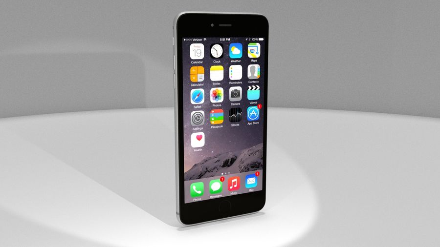 Apple iPhone 6s royalty-free 3d model - Preview no. 10