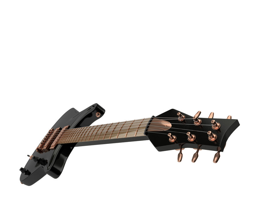 Electric guitar royalty-free 3d model - Preview no. 5
