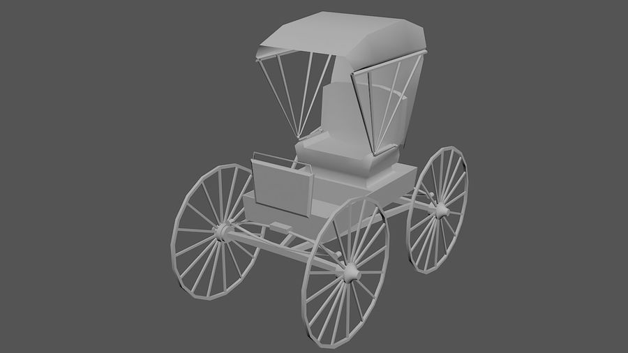 Le chariot royalty-free 3d model - Preview no. 3