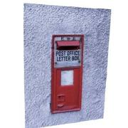 Realistic Royal Mail Post Box (Wall Mount) 3d model