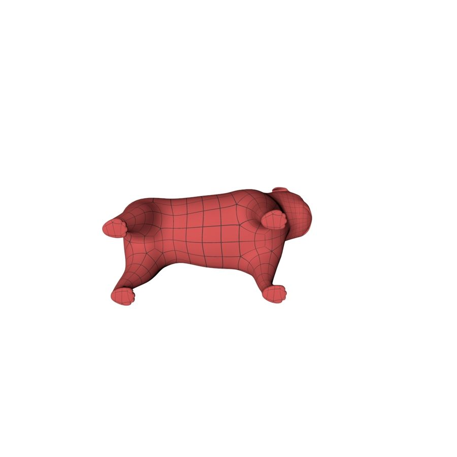 Pug base mesh royalty-free 3d model - Preview no. 6