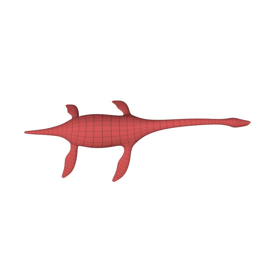 Plesiosaurus basnät royalty-free 3d model - Preview no. 5