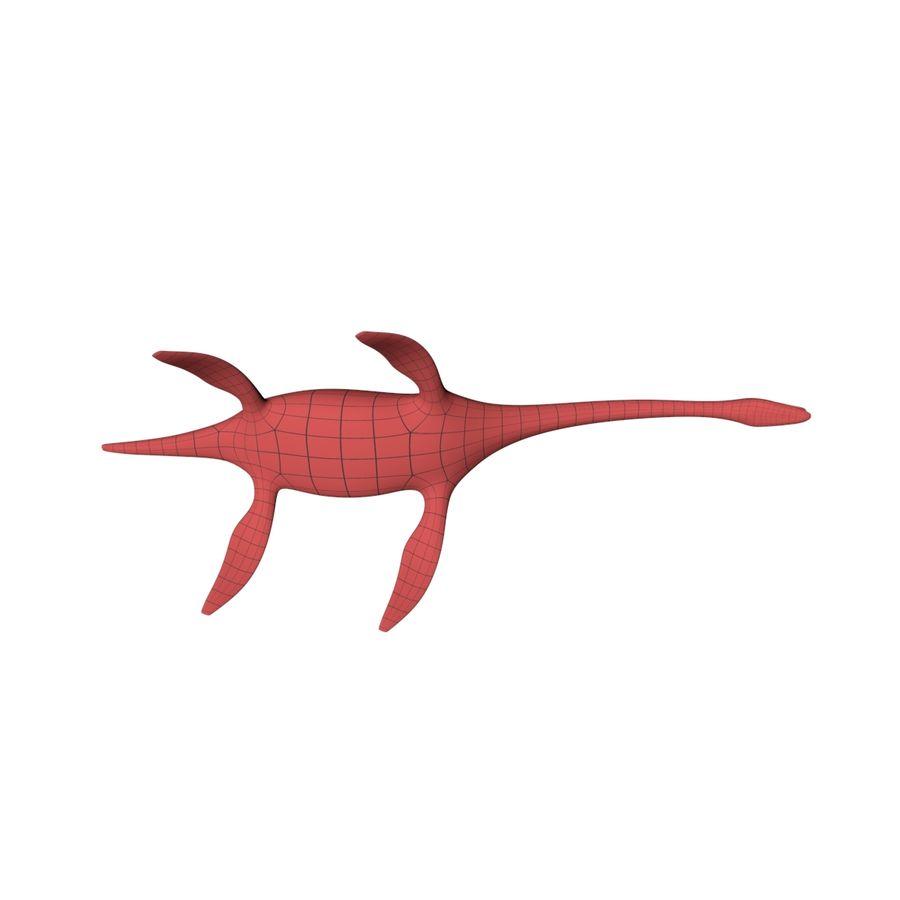 Plesiosaurus basnät royalty-free 3d model - Preview no. 6