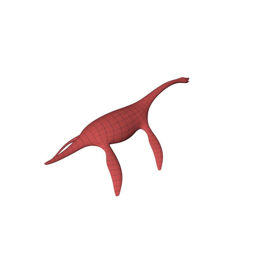 Plesiosaurus basnät royalty-free 3d model - Preview no. 7
