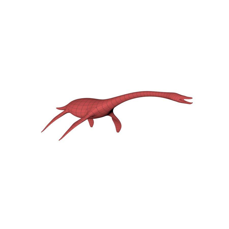 Plesiosaurus basnät royalty-free 3d model - Preview no. 3