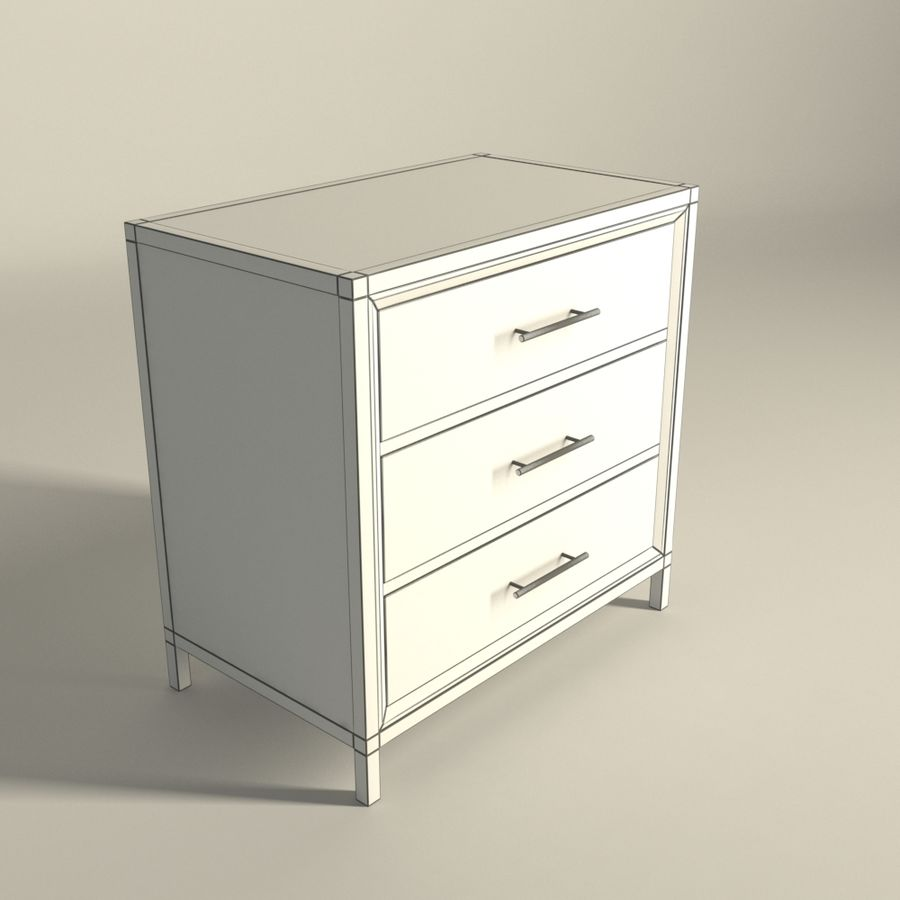 Dormitorio Mesita de noche Atlanta royalty-free modelo 3d - Preview no. 6
