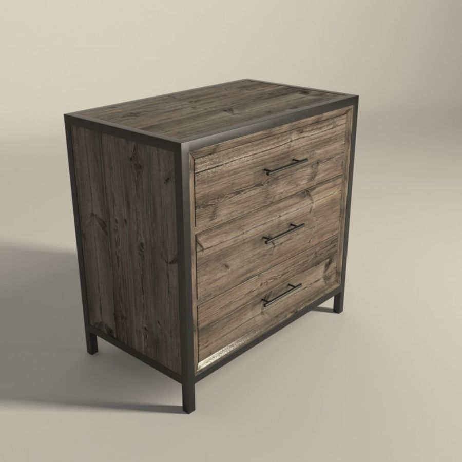 Dormitorio Mesita de noche Atlanta royalty-free modelo 3d - Preview no. 5