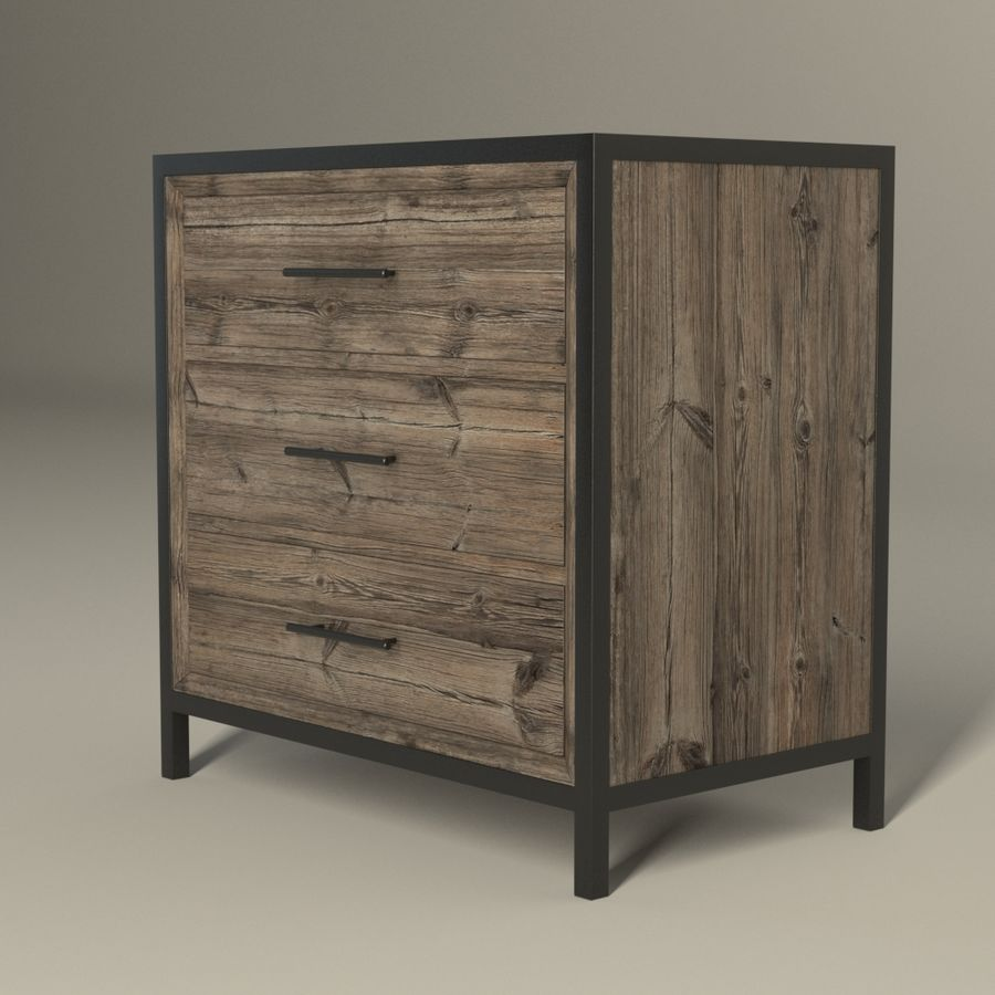 Dormitorio Mesita de noche Atlanta royalty-free modelo 3d - Preview no. 2