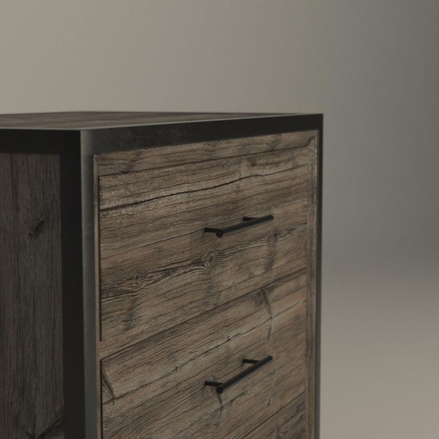 Sypialnia Stolik nocny Atlanta royalty-free 3d model - Preview no. 3