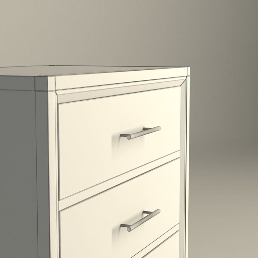 Dormitorio Mesita de noche Atlanta royalty-free modelo 3d - Preview no. 4