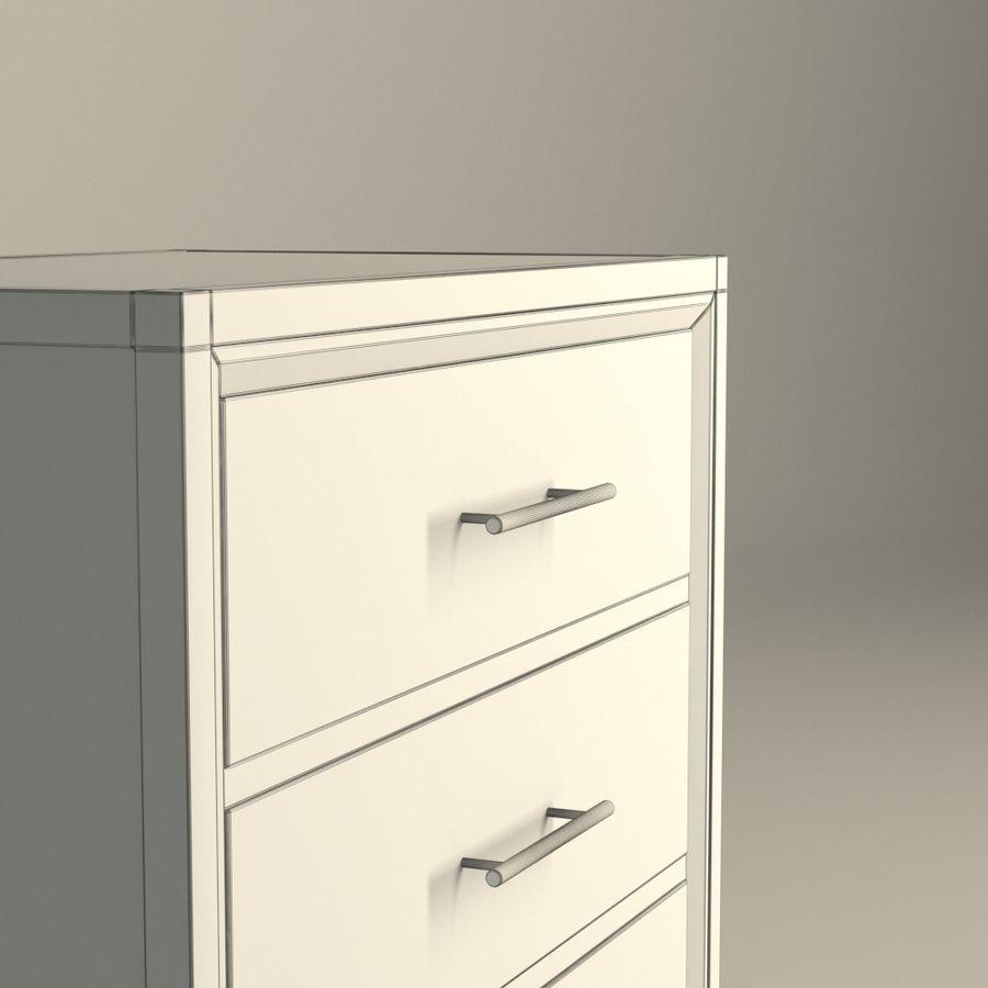 Sypialnia Stolik nocny Atlanta royalty-free 3d model - Preview no. 4