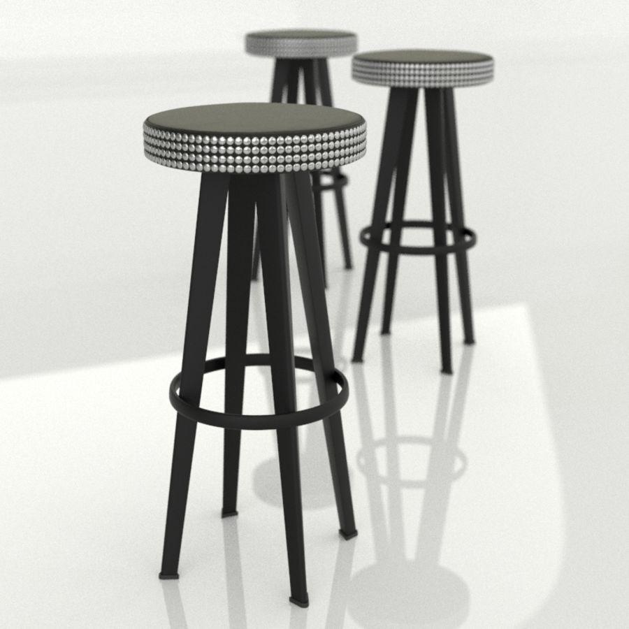 Moroso Bar Stud Tabure royalty-free 3d model - Preview no. 1