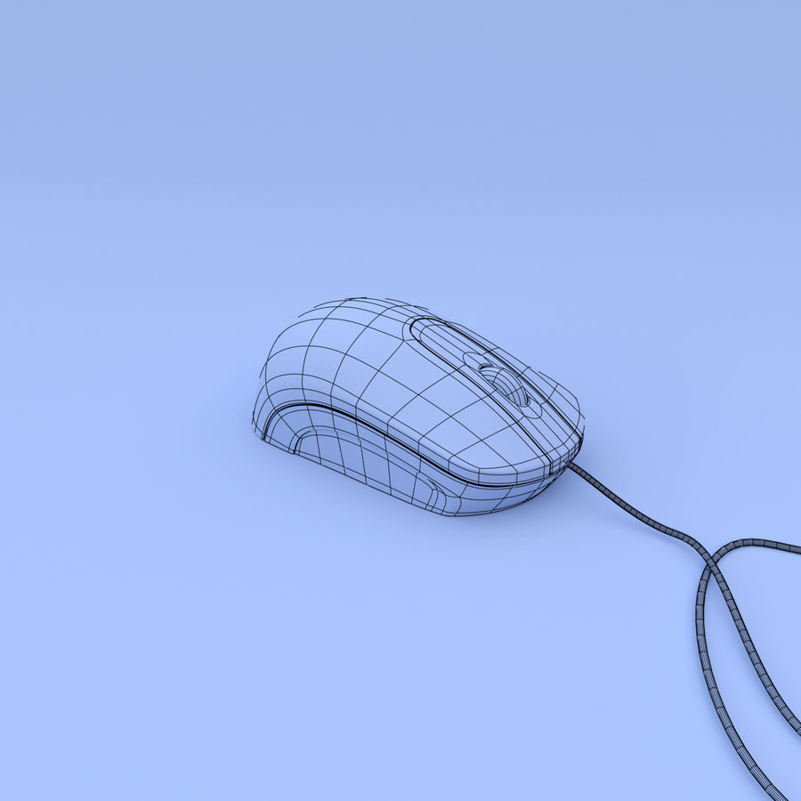 Computer mouse royalty-free 3d model - Preview no. 5
