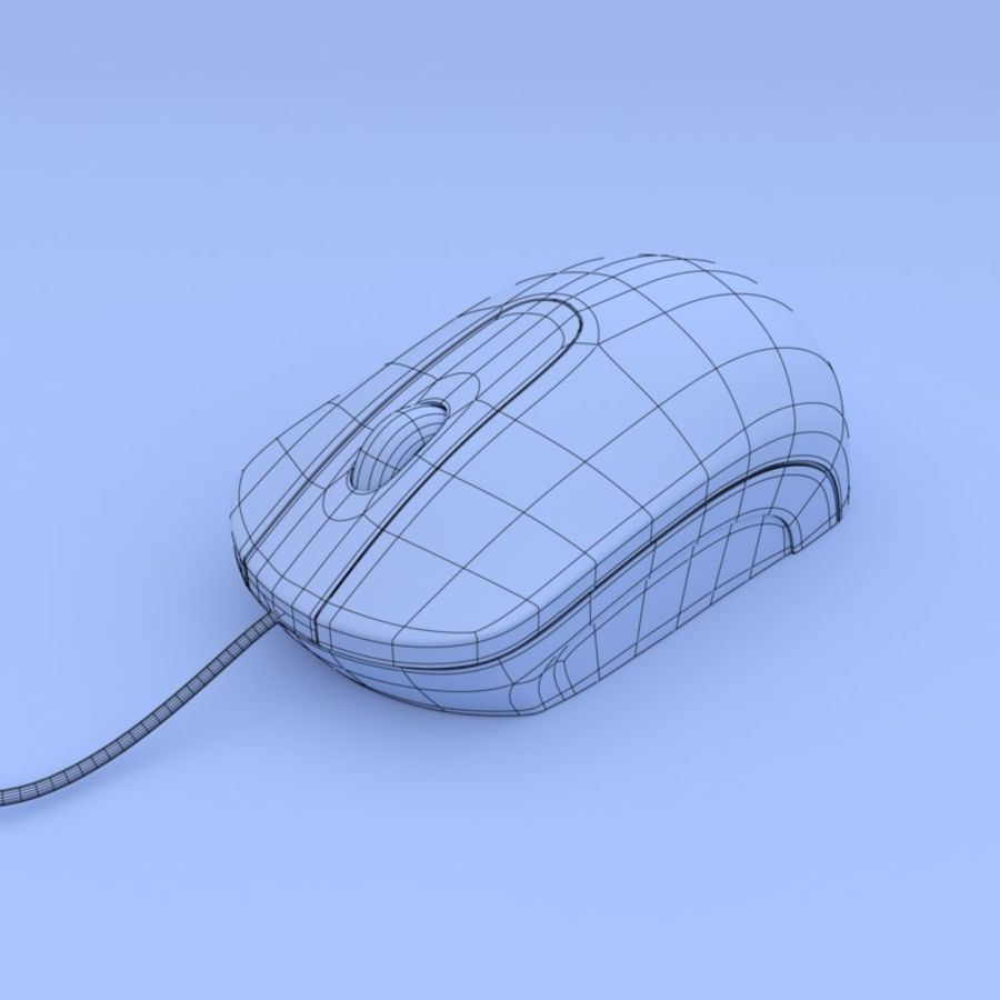 Computer mouse royalty-free 3d model - Preview no. 6