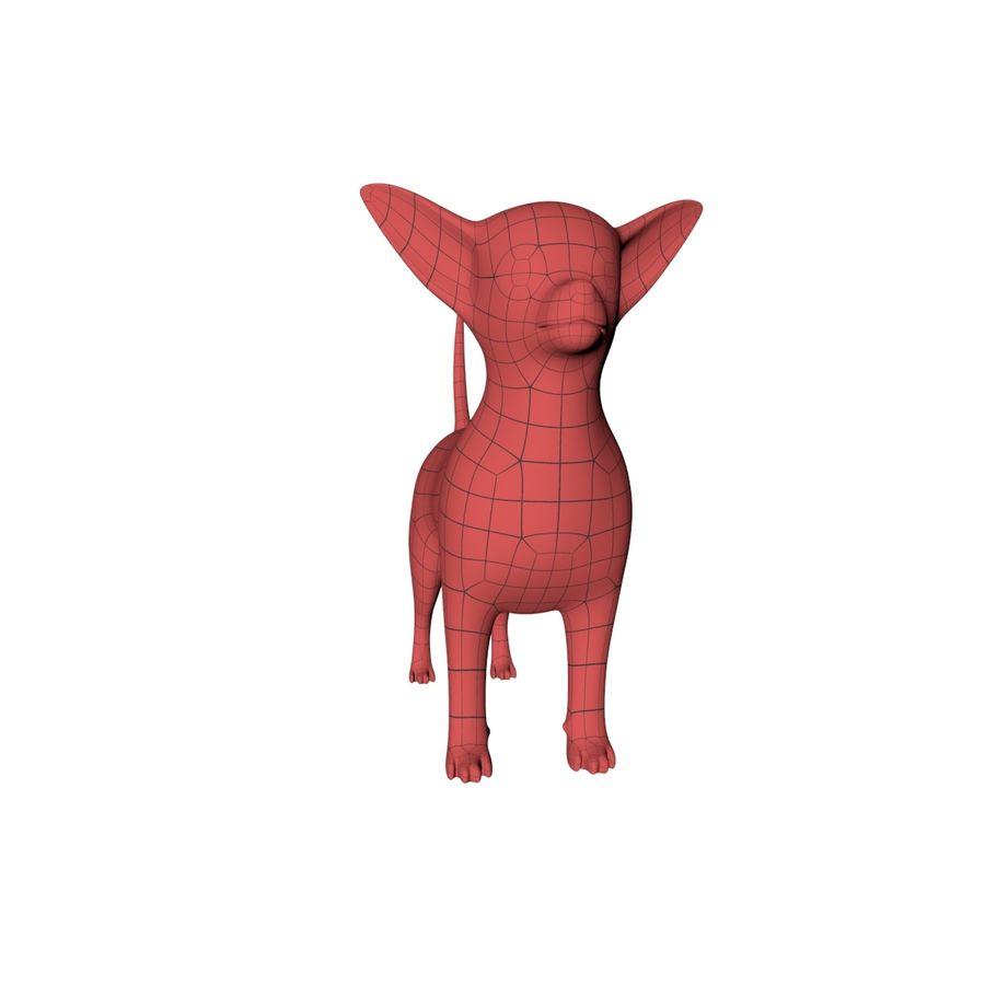 Chihuahua base mesh royalty-free 3d model - Preview no. 4