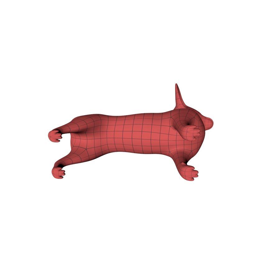 Chihuahua base mesh royalty-free 3d model - Preview no. 6