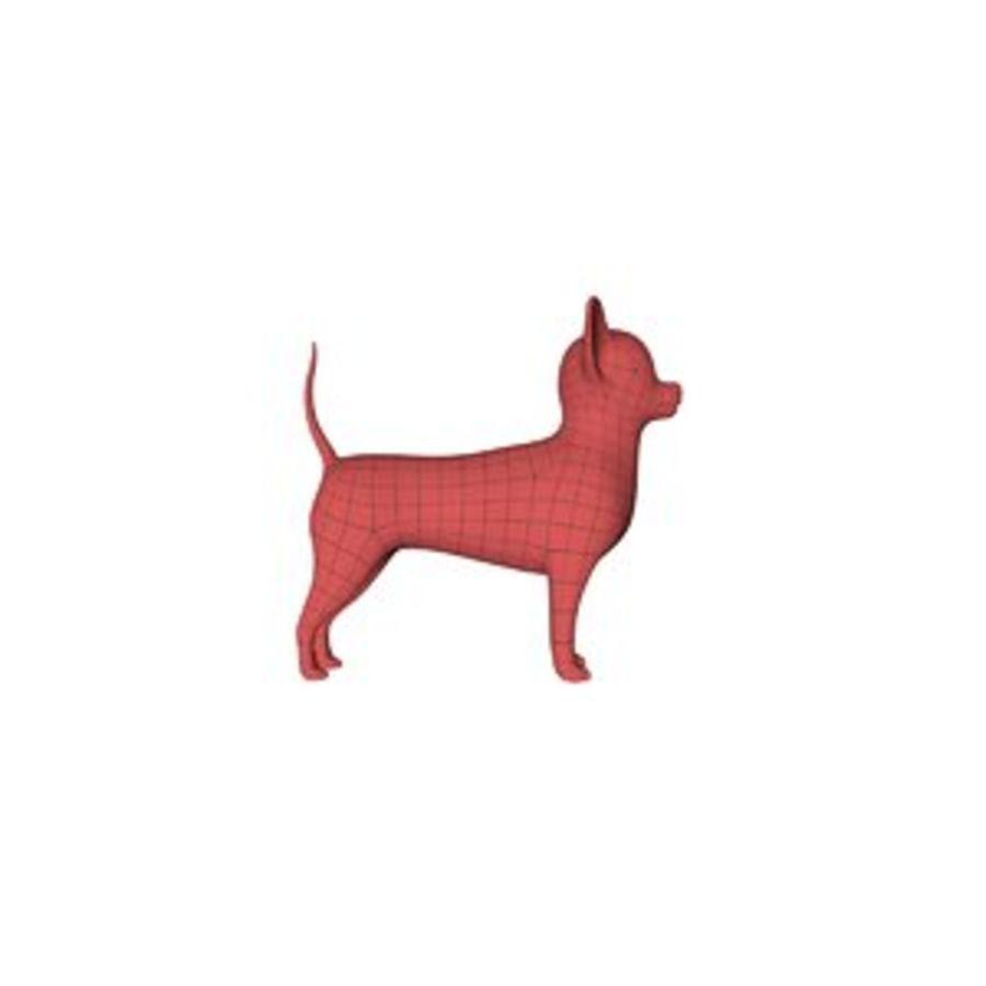 Chihuahua base mesh royalty-free 3d model - Preview no. 1