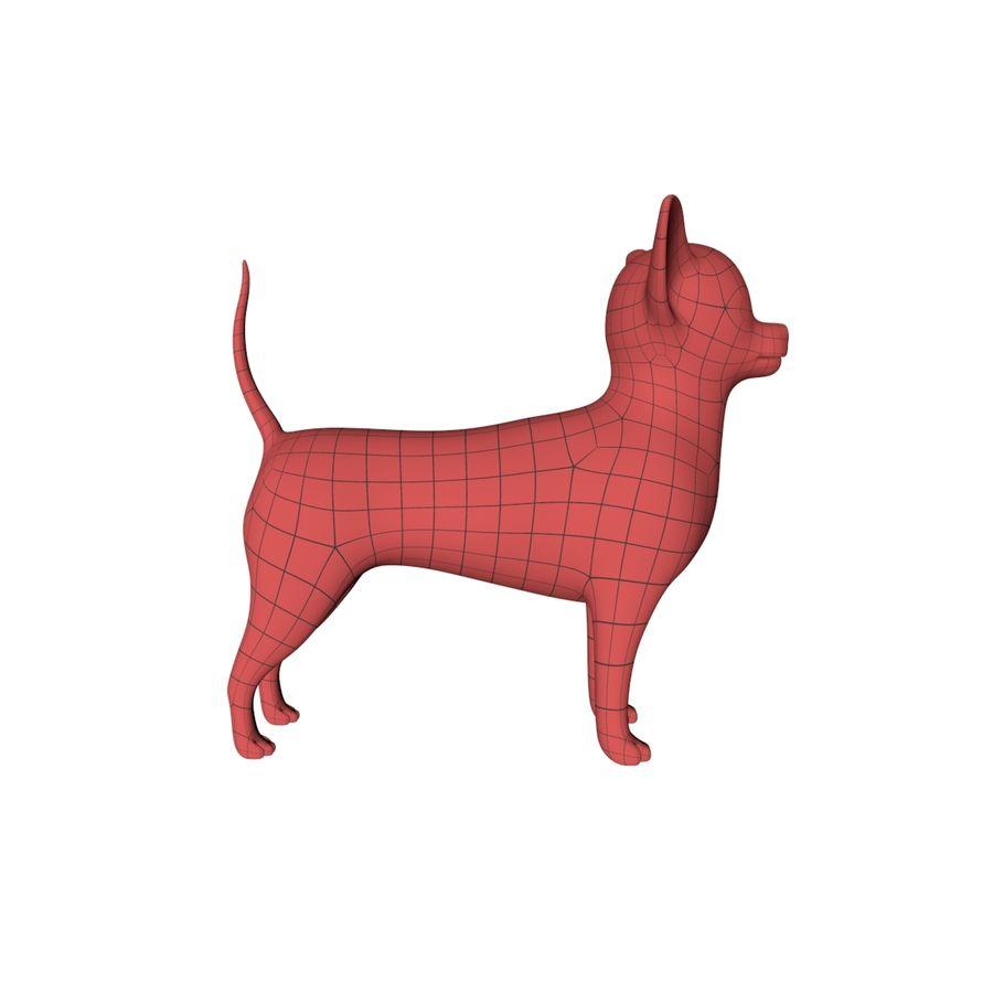 Chihuahua base mesh royalty-free 3d model - Preview no. 2