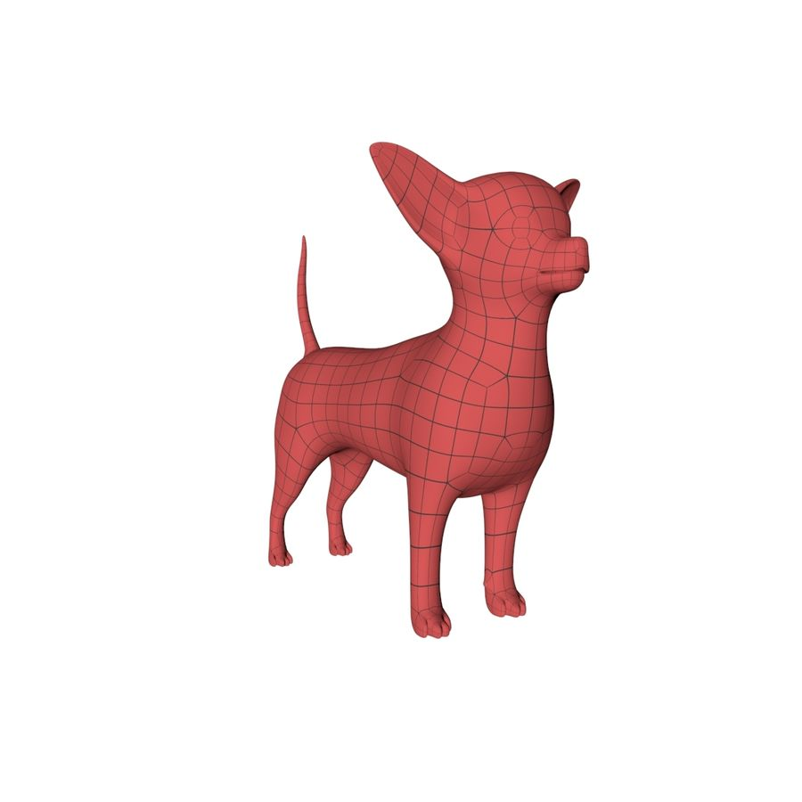 Chihuahua base mesh royalty-free 3d model - Preview no. 3