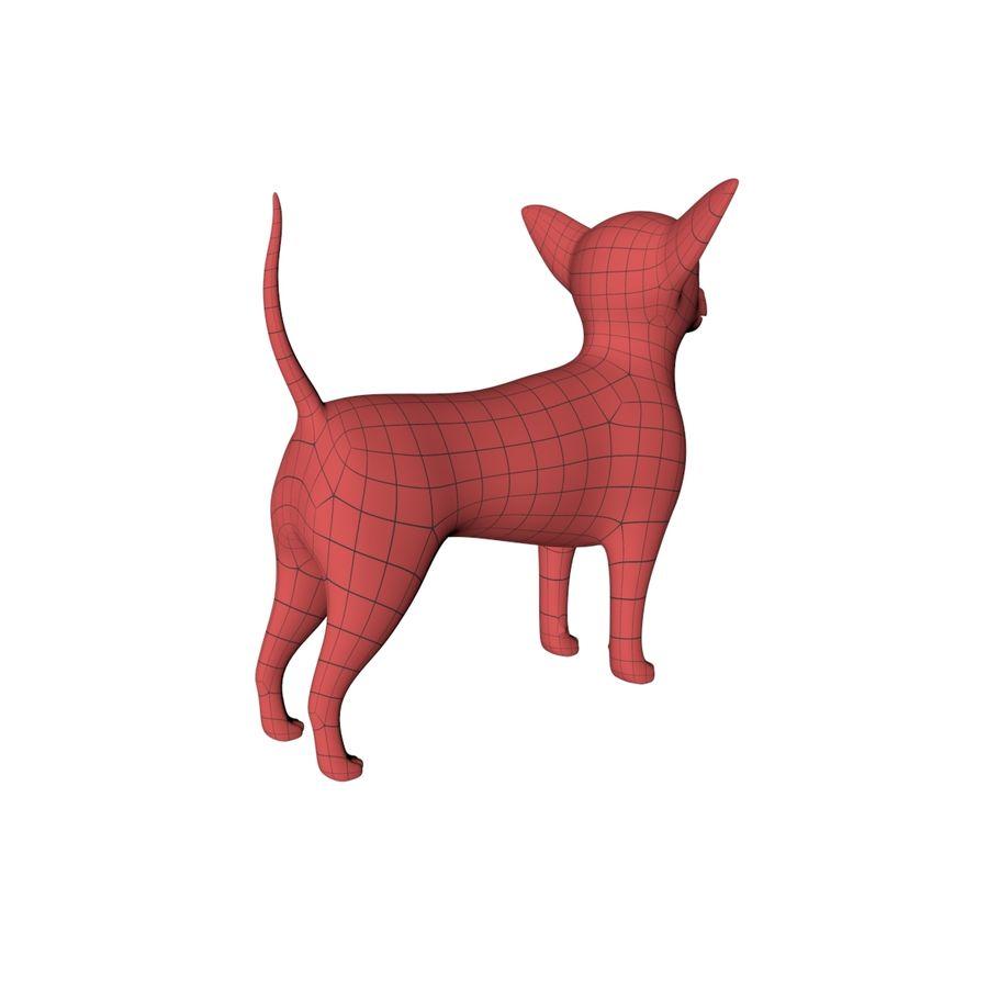 Chihuahua base mesh royalty-free 3d model - Preview no. 7