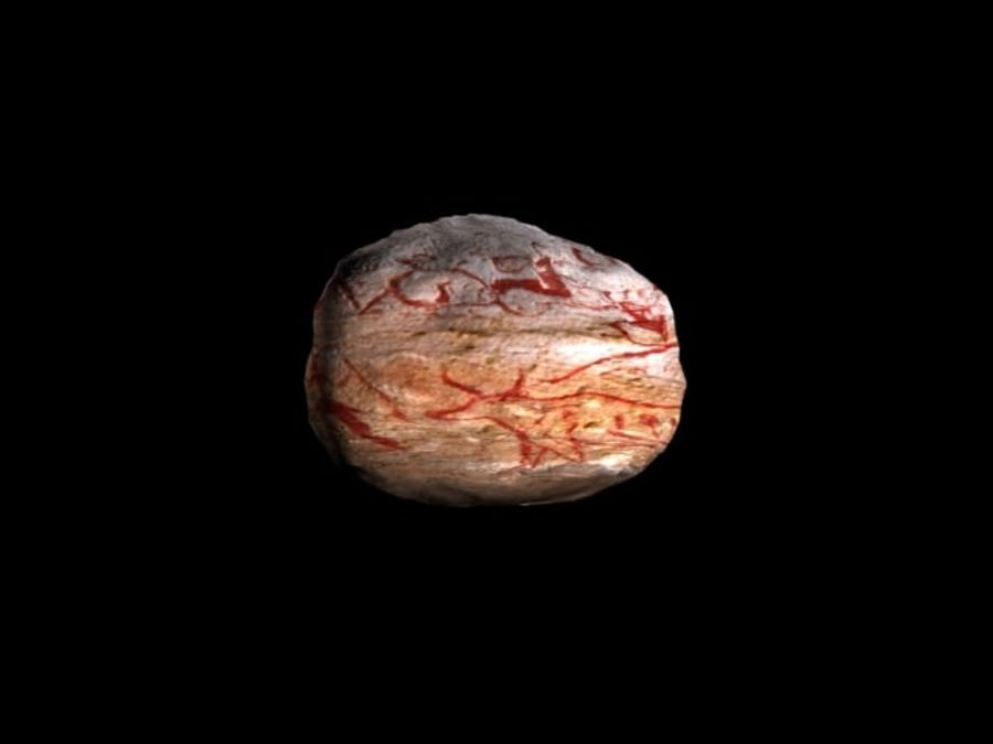 Cave art rock royalty-free 3d model - Preview no. 5