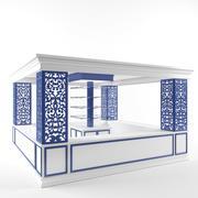 Moderne parfumstandaard Display Advertising Elegance Smart 3d model