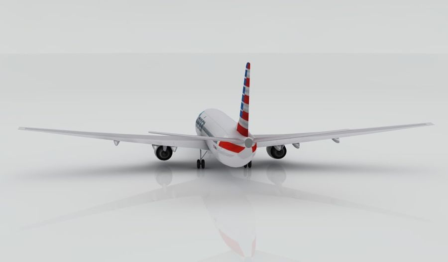 Boeing 737-800 AA royalty-free 3d model - Preview no. 5