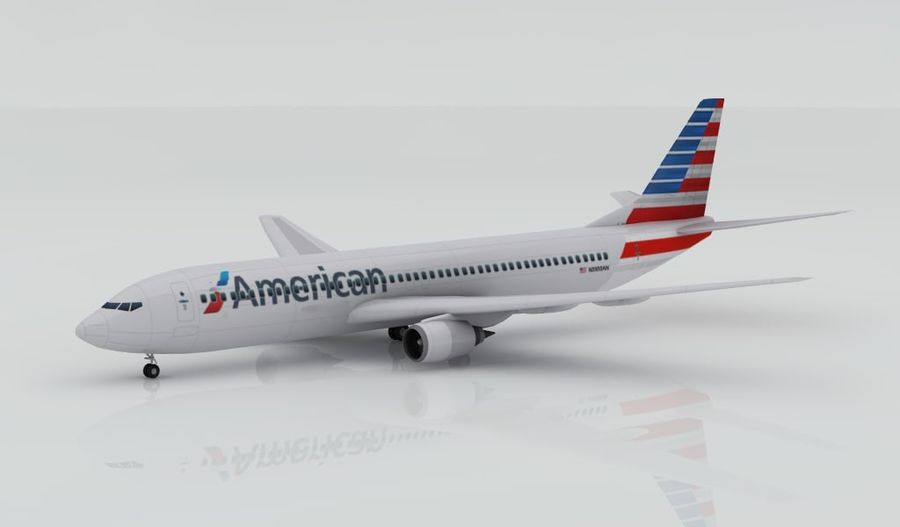 Boeing 737-800 AA royalty-free 3d model - Preview no. 6