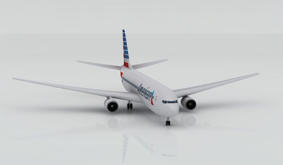 Boeing 737-800 AA royalty-free 3d model - Preview no. 2