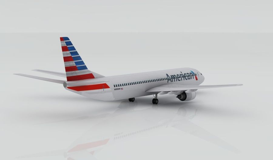 Boeing 737-800 AA royalty-free 3d model - Preview no. 4