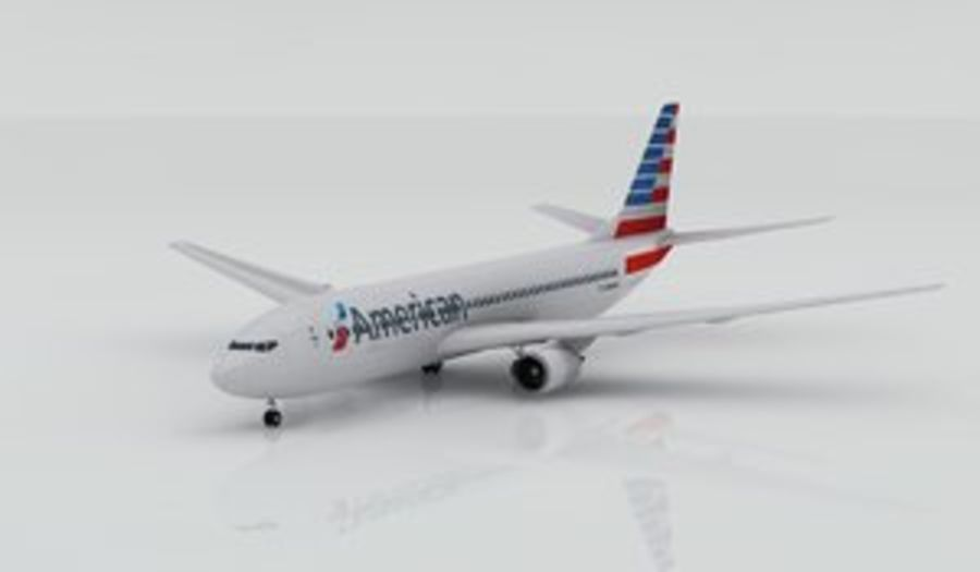 Boeing 737-800 AA royalty-free 3d model - Preview no. 1