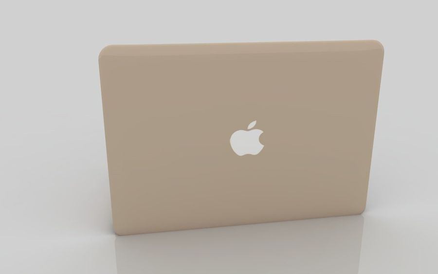 MacBook 2015 GOLD royalty-free 3d model - Preview no. 6