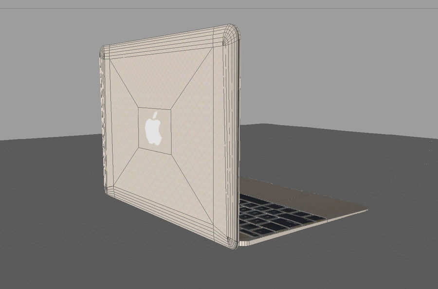 MacBook 2015 GOLD royalty-free 3d model - Preview no. 10