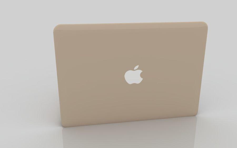 MacBook 2015金 royalty-free 3d model - Preview no. 6