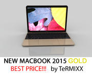 MacBook 2015 GOUD 3d model