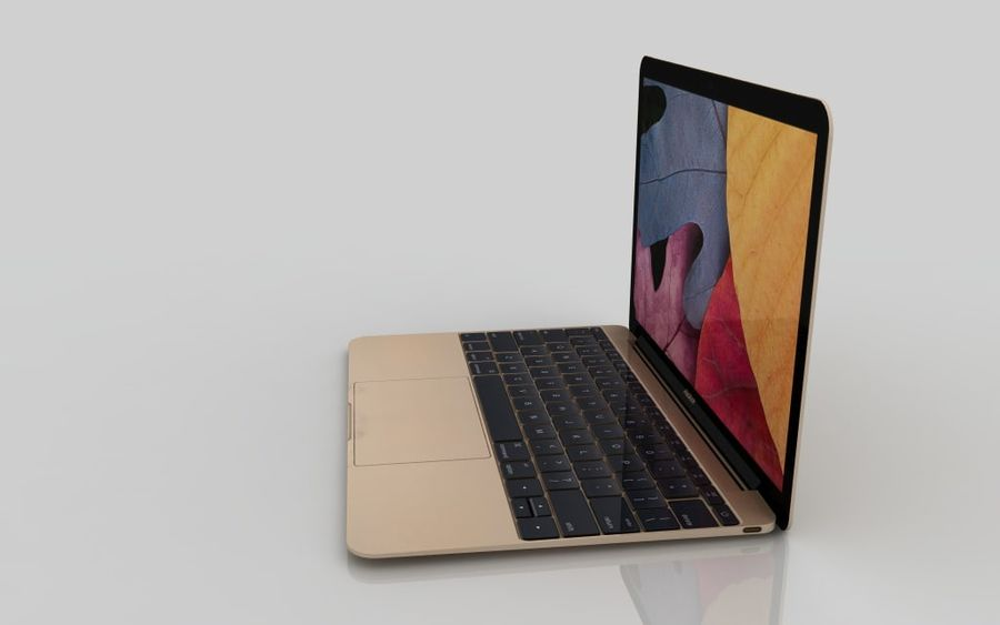 MacBook 2015 GOLD royalty-free 3d model - Preview no. 4