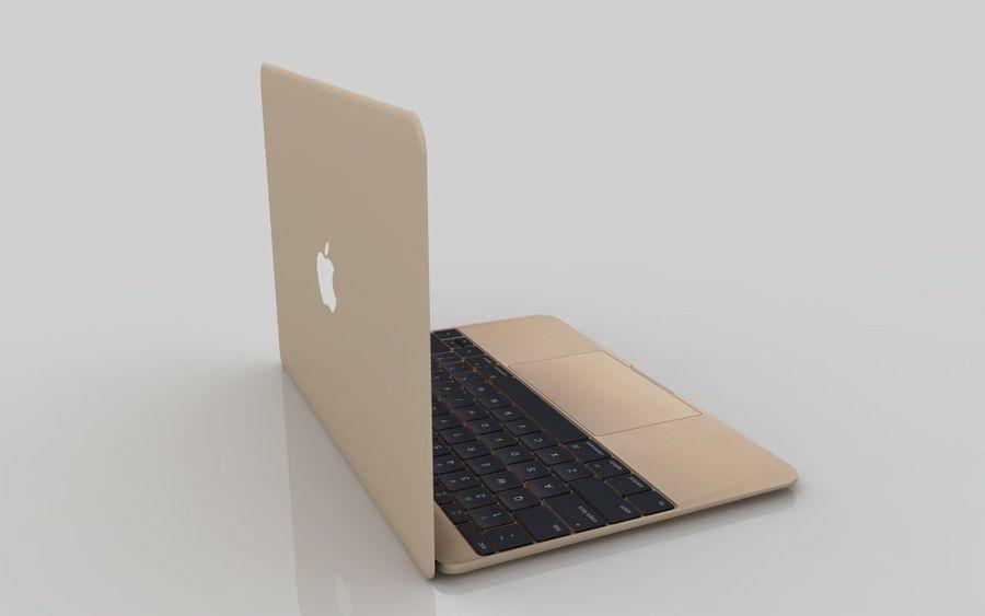 MacBook 2015金 royalty-free 3d model - Preview no. 7