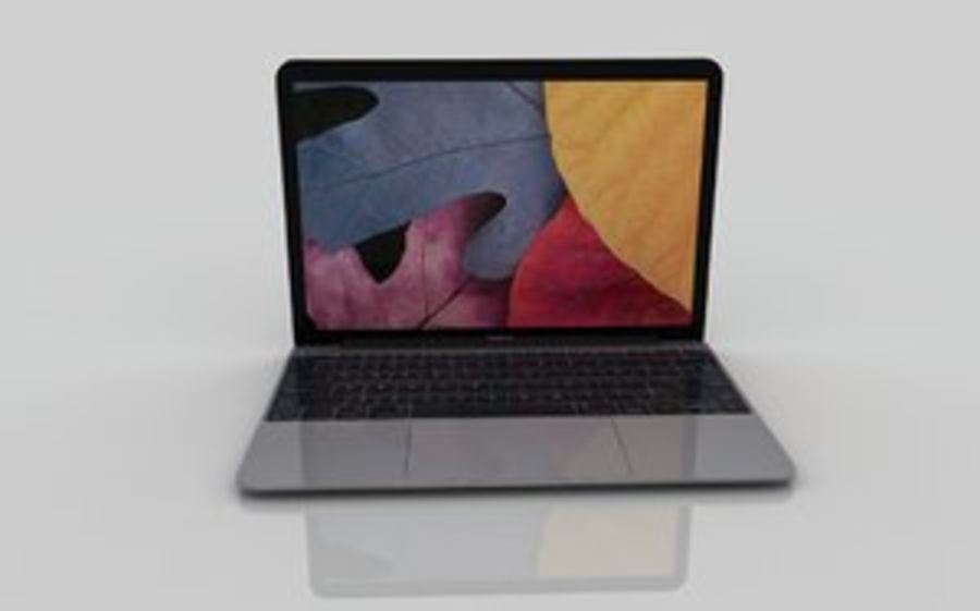 MacBook 2015 Gray royalty-free 3d model - Preview no. 1
