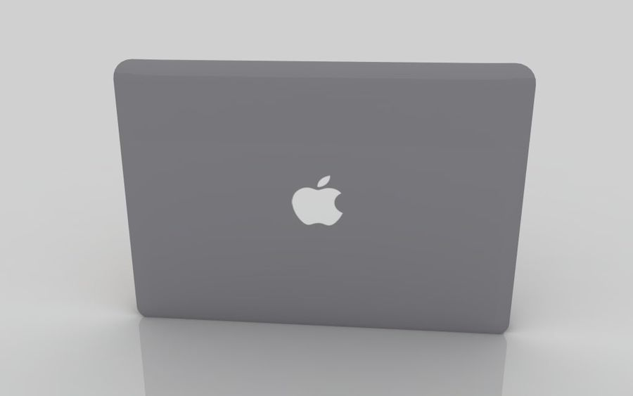 MacBook 2015 Gray royalty-free 3d model - Preview no. 5