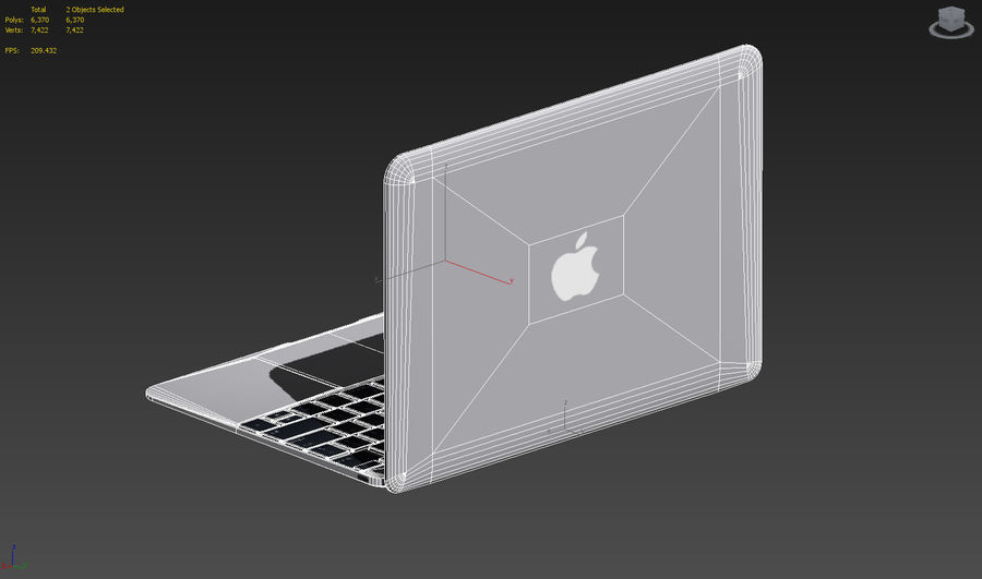 MacBook 2015 Gray royalty-free 3d model - Preview no. 7
