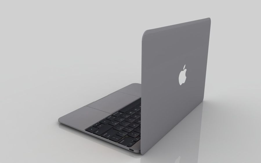 MacBook 2015 Gray royalty-free 3d model - Preview no. 4
