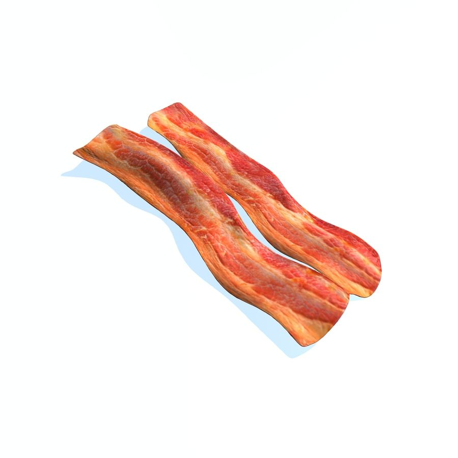 fried bacon set royalty-free 3d model - Preview no. 5