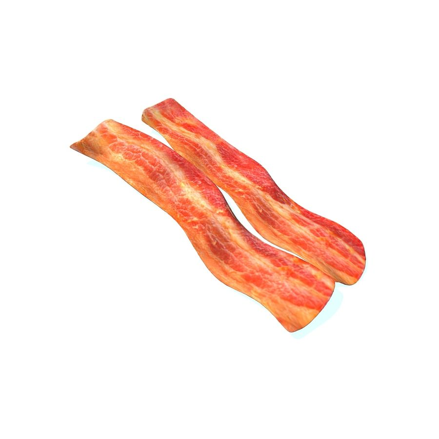 fried bacon set royalty-free 3d model - Preview no. 6