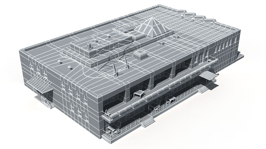 Budynek royalty-free 3d model - Preview no. 14
