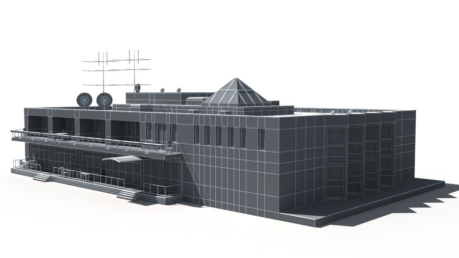 Budynek royalty-free 3d model - Preview no. 10