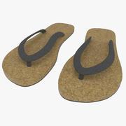 Sandały teksturowane 3d model