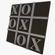 Teksturowane kółko i krzyżyk 3d model