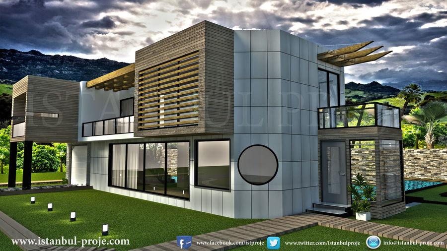 Modern Villa royalty-free 3d model - Preview no. 4