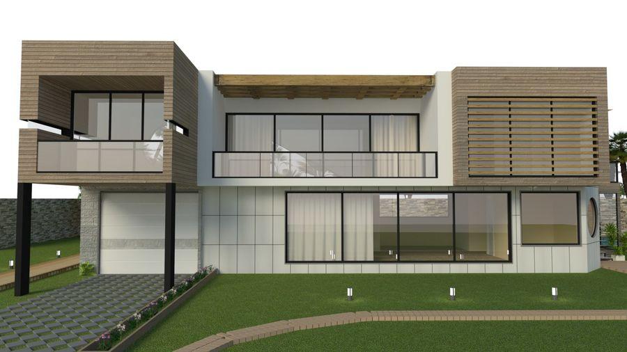 Modern Villa royalty-free 3d model - Preview no. 6